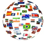 world with flags istock
