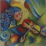 performer with violin